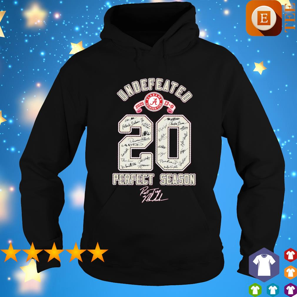 Alabama undefeated 2020 perfect season s hoodie