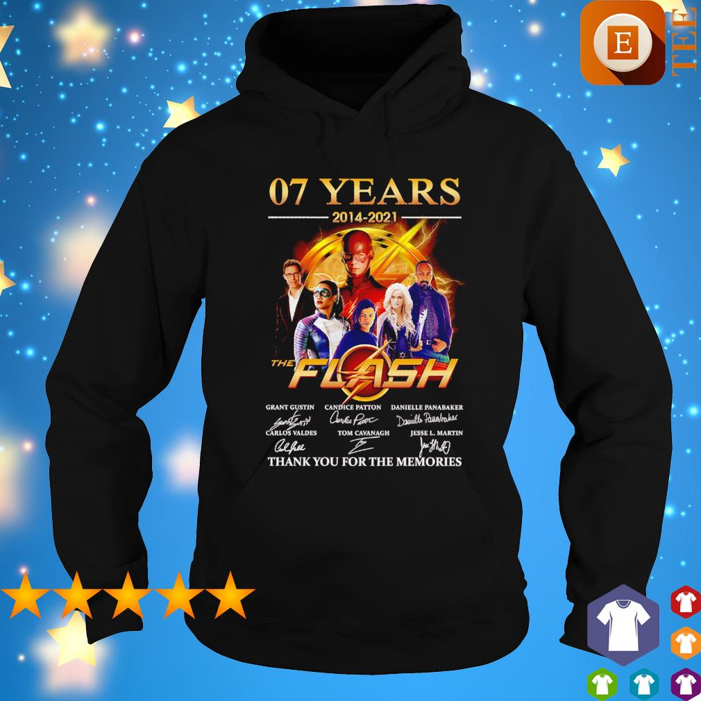 07 years 2014 2021 The Flash thank you for the memories signatures s hoodie