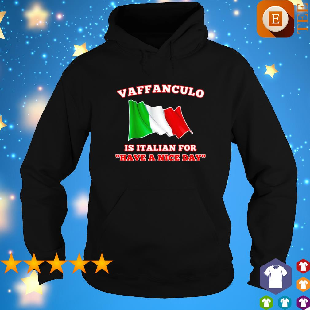 Vaffanculo is italian for have a nice day s hoodie