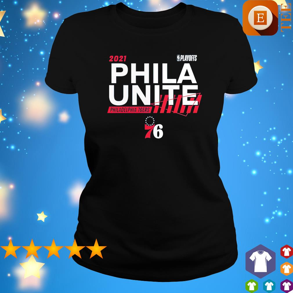 2021 NBA Playoffs Phila Unite Philadelphia 76ers s ladies tee