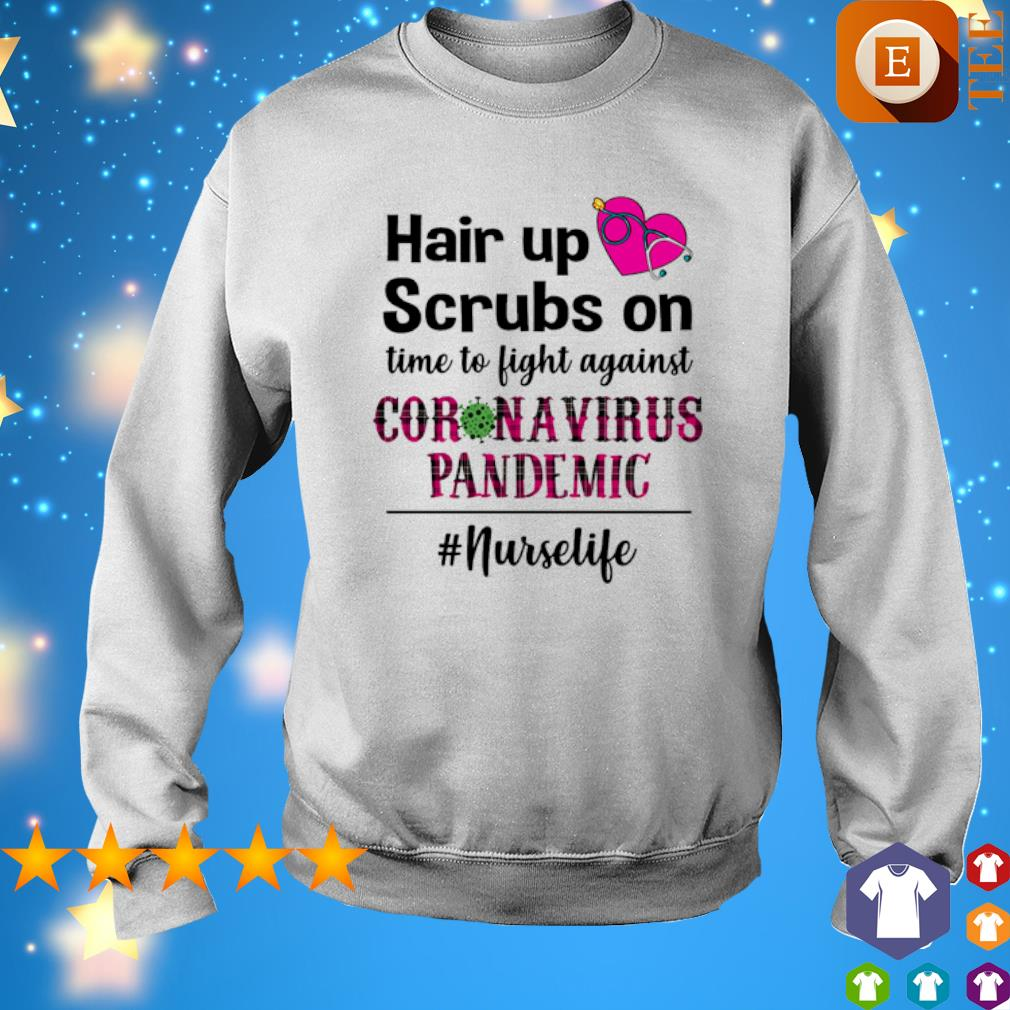 Hair up scrubs on time to fight against Coronavirus Pandemic s 8