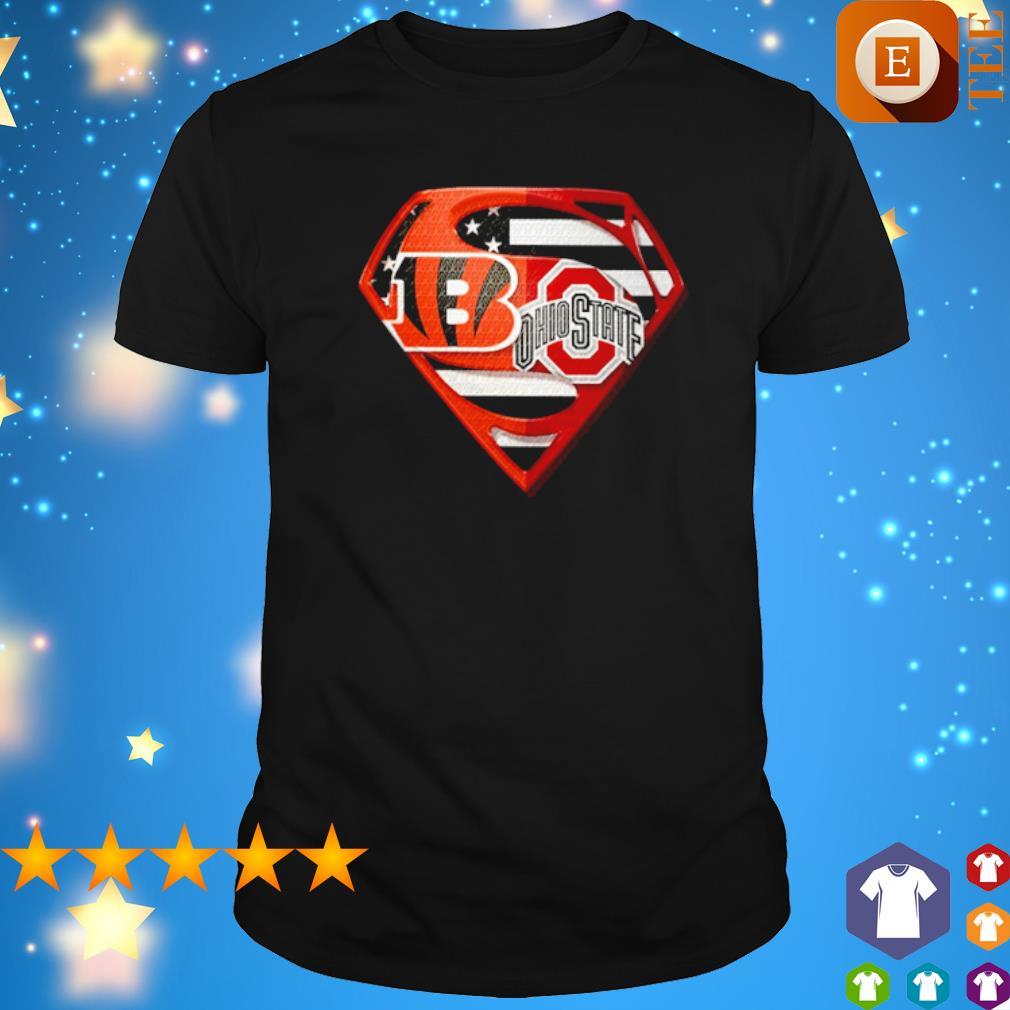 Superman Cincinnati Bengals and Ohio State Buckeyes shirt