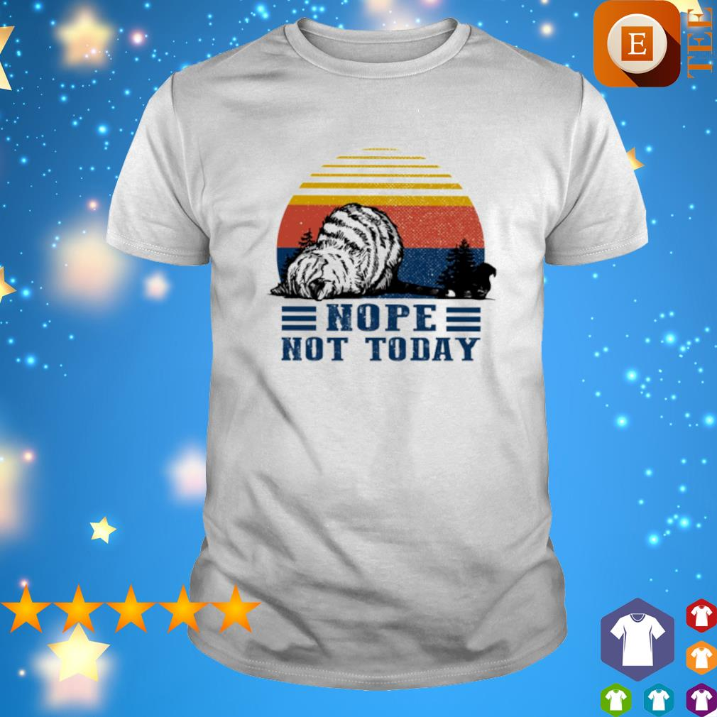 Nope Not Today Cat vintage shirt