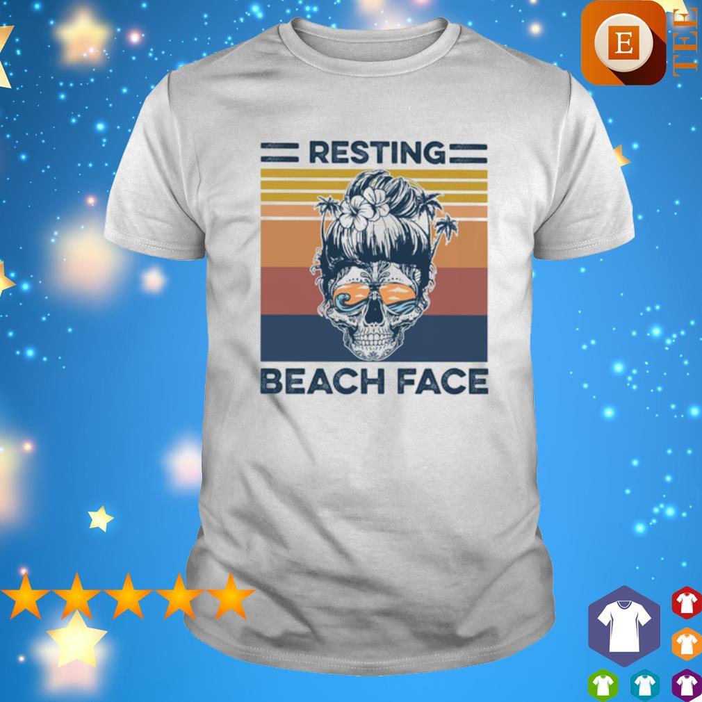 Ocean Resting Beach Face vintage shirt