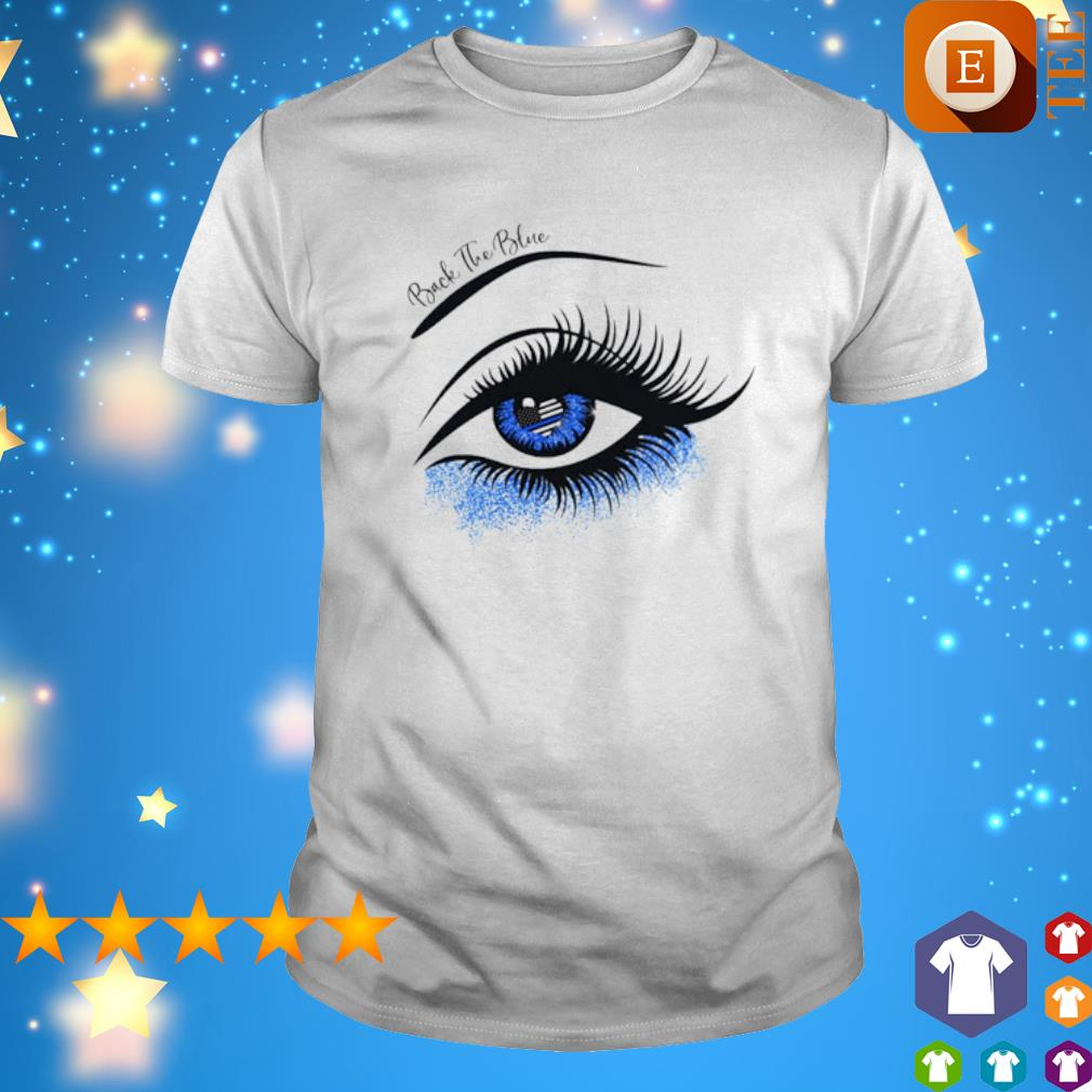 Thin blue line eye back the blue shirt