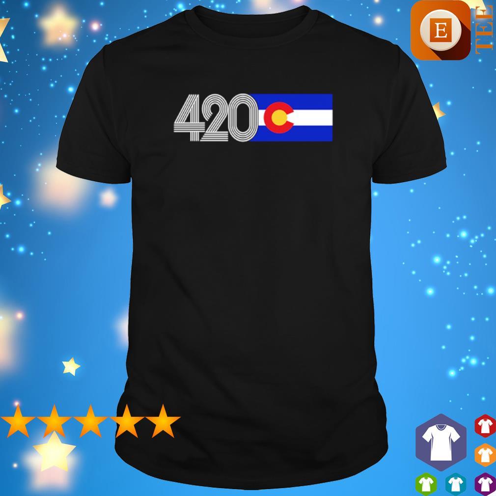 420 Colorado State flag shirt