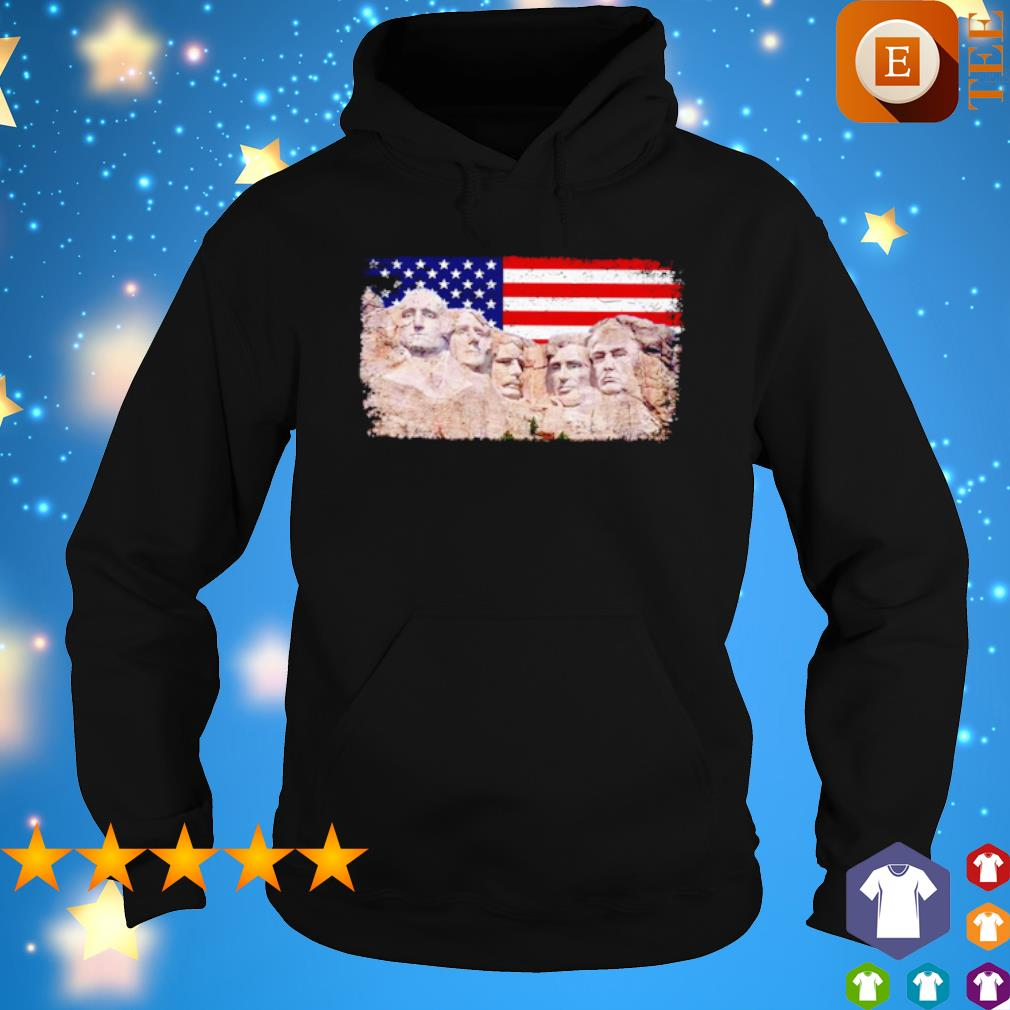45th added to rushmore mount Trump s hoodie