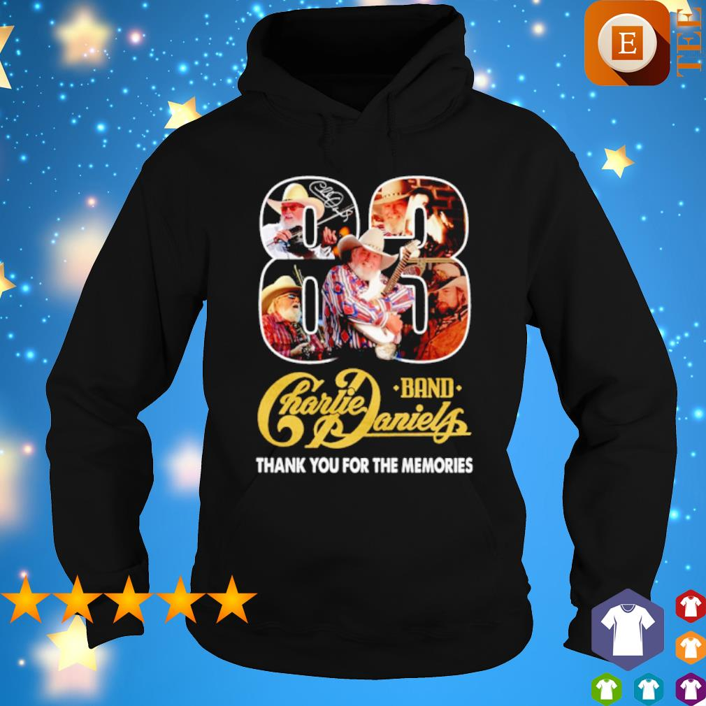 83 band Charlie Daniels thank you for the memories s hoodie