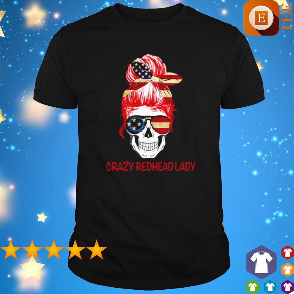 America Girl skull crazy redhead lady shirt