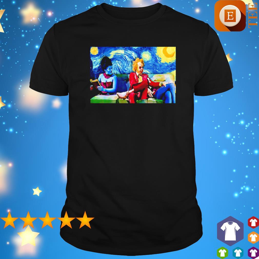Beetlejuice Lydia Starry Night poster shirt