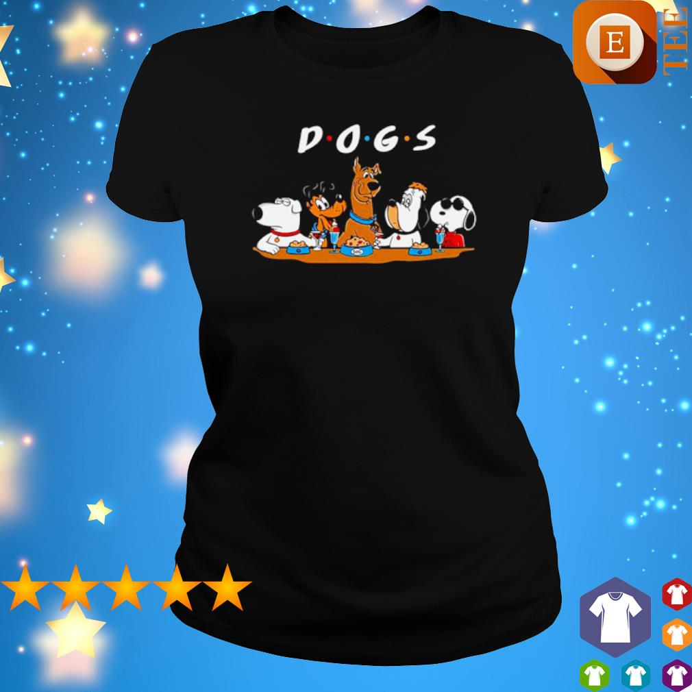 Dogs Party Friends Tv Series Shirt ladies tee