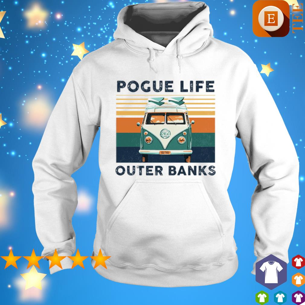 Hippie car pogue life outer banks vintage s hoodie