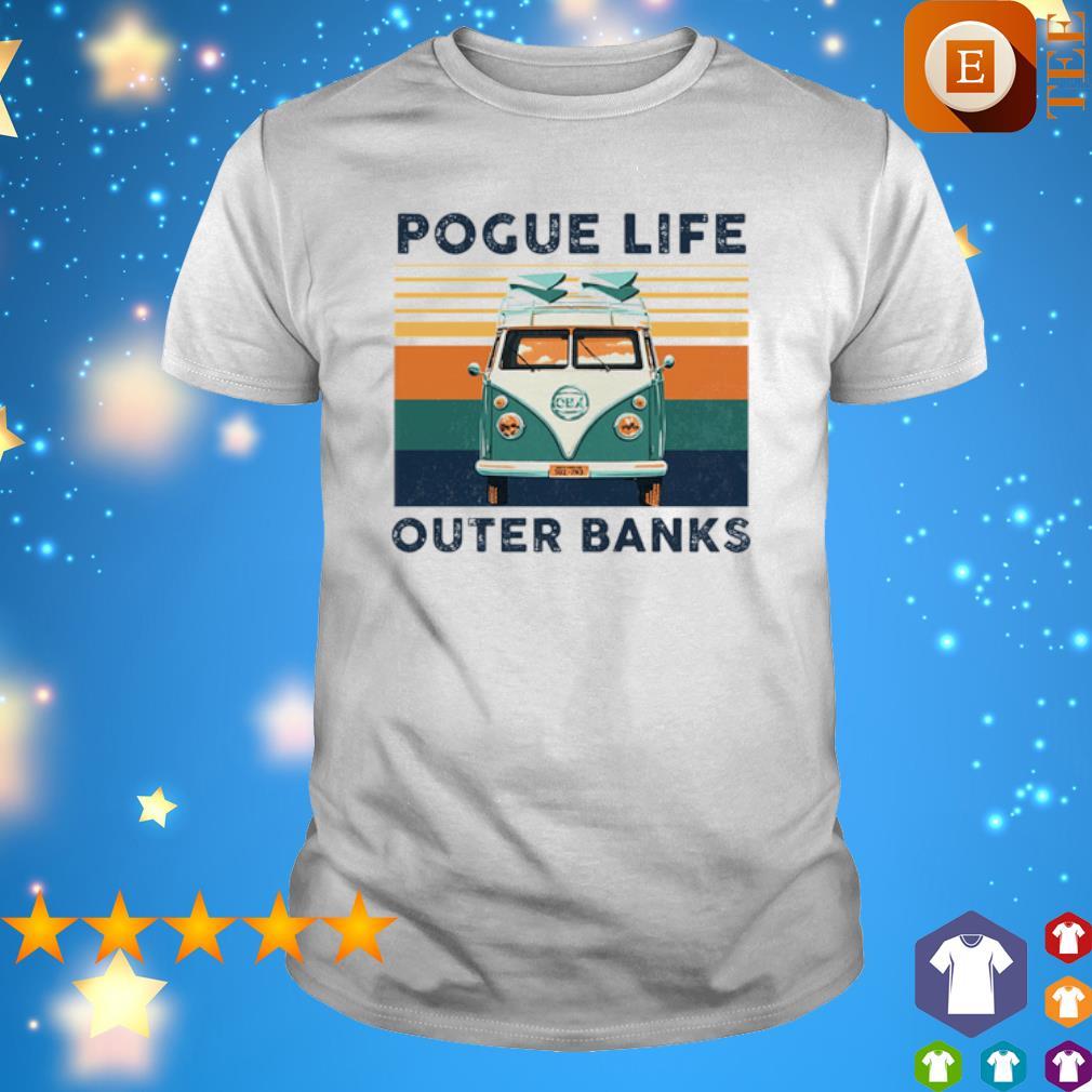 Hippie car pogue life outer banks vintage shirt