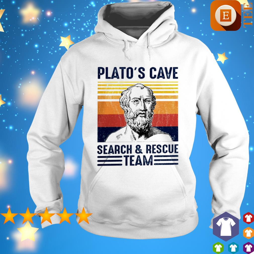 Platon Plato's Cave search and rescue team vintage s hoodie