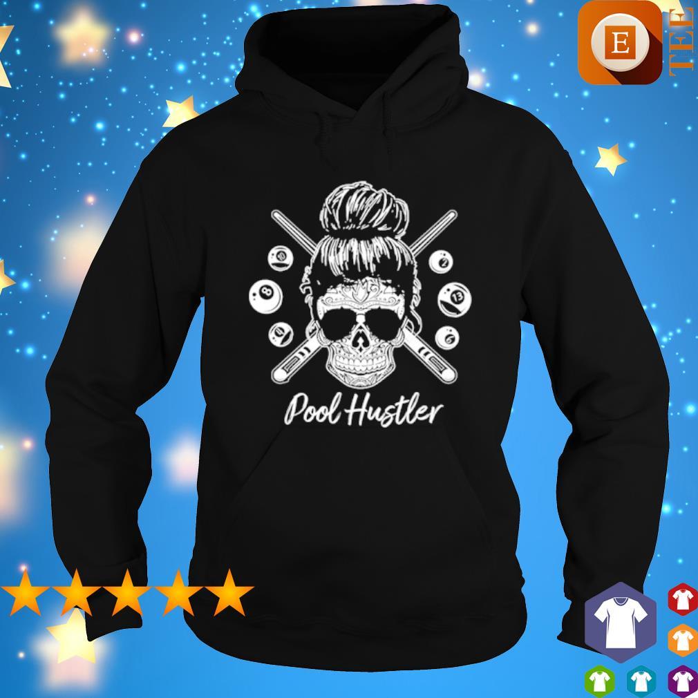 Skull girl billiard pool hustler s hoodie