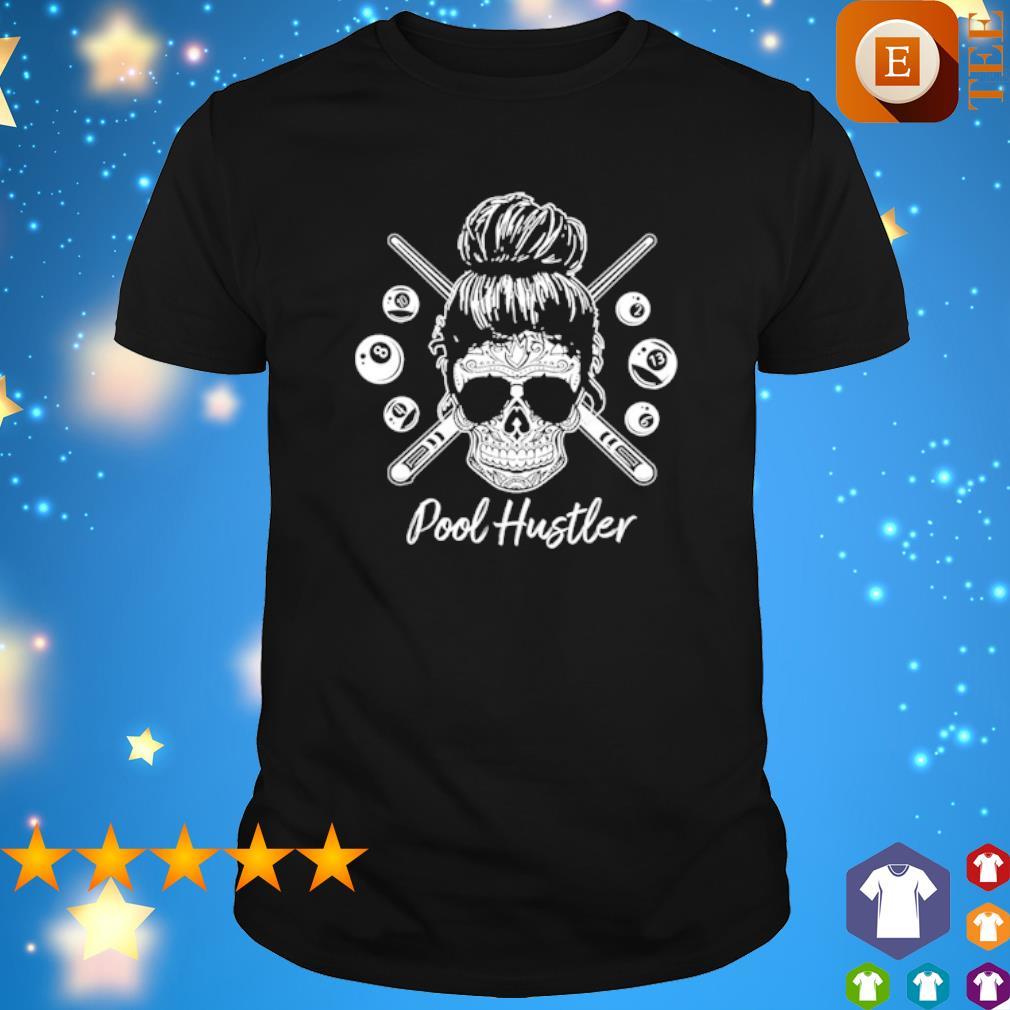 Skull girl billiard pool hustler shirt