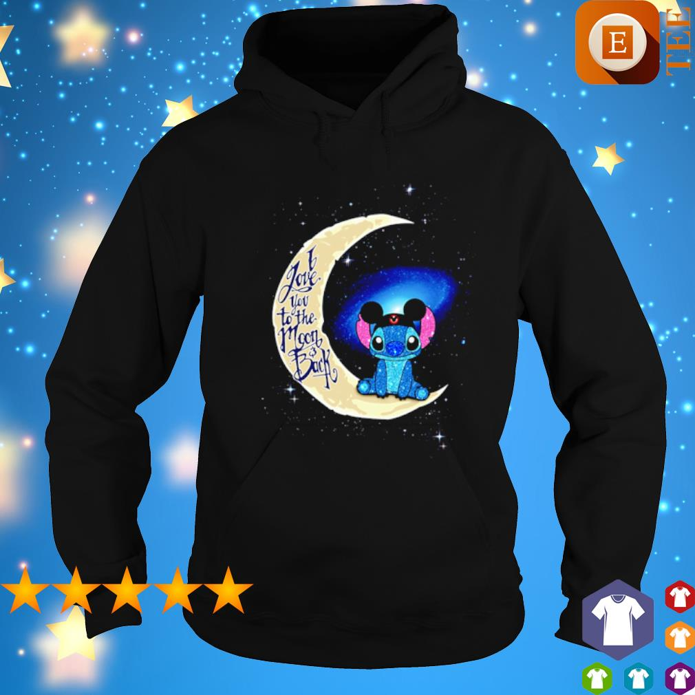 Stitch Mickey I love you to the moon and back s hoodie