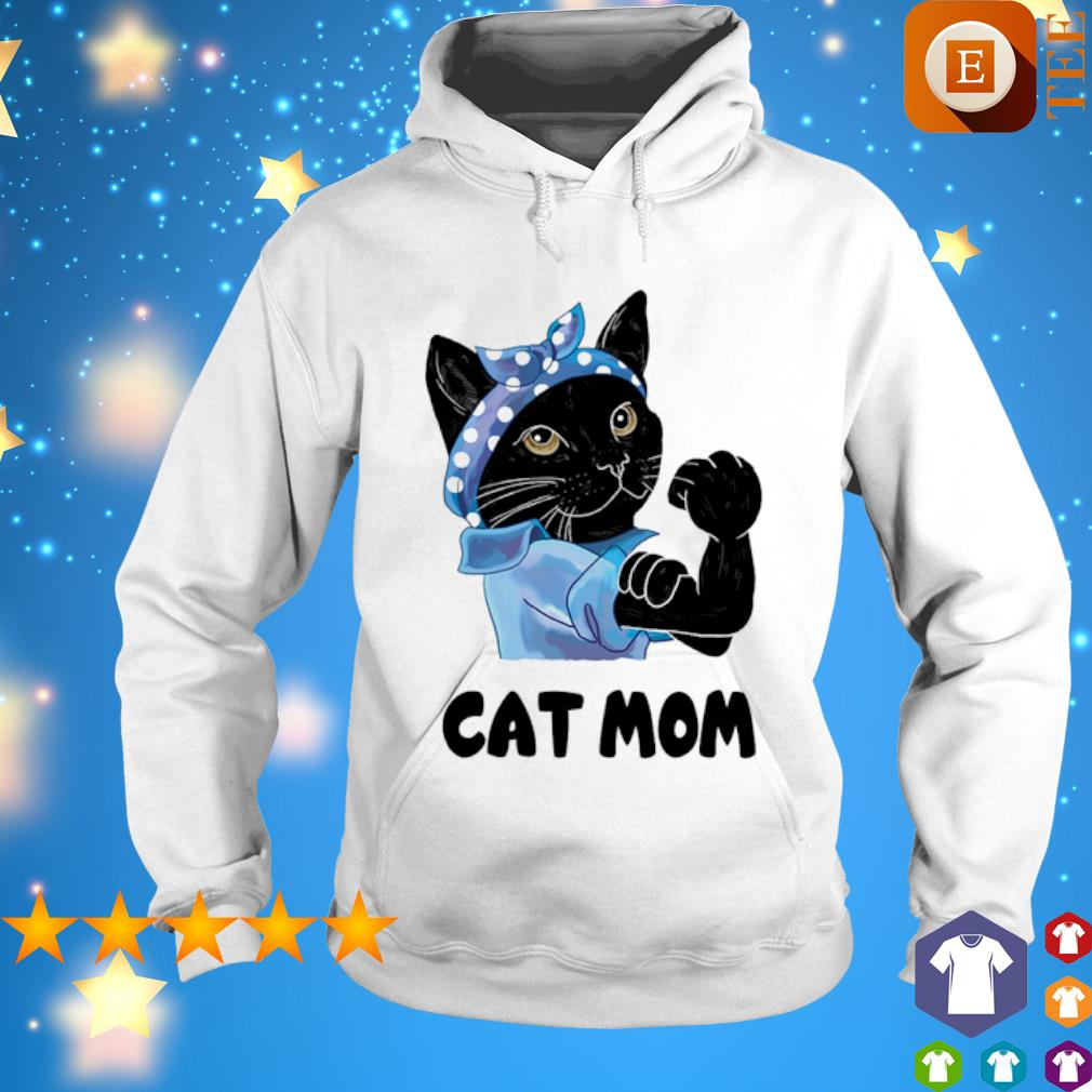 Strong Cat black cat mom s hoodie