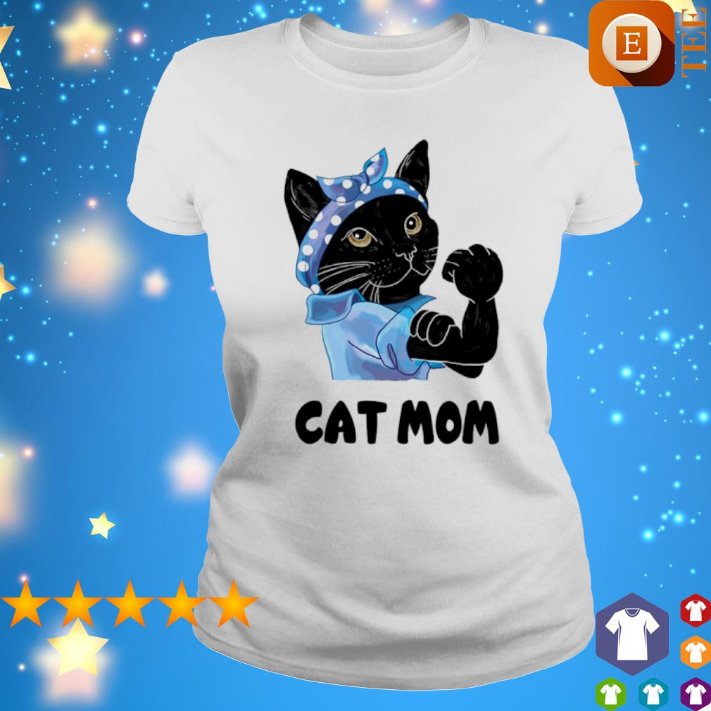 Strong Cat black cat mom s ladies tee