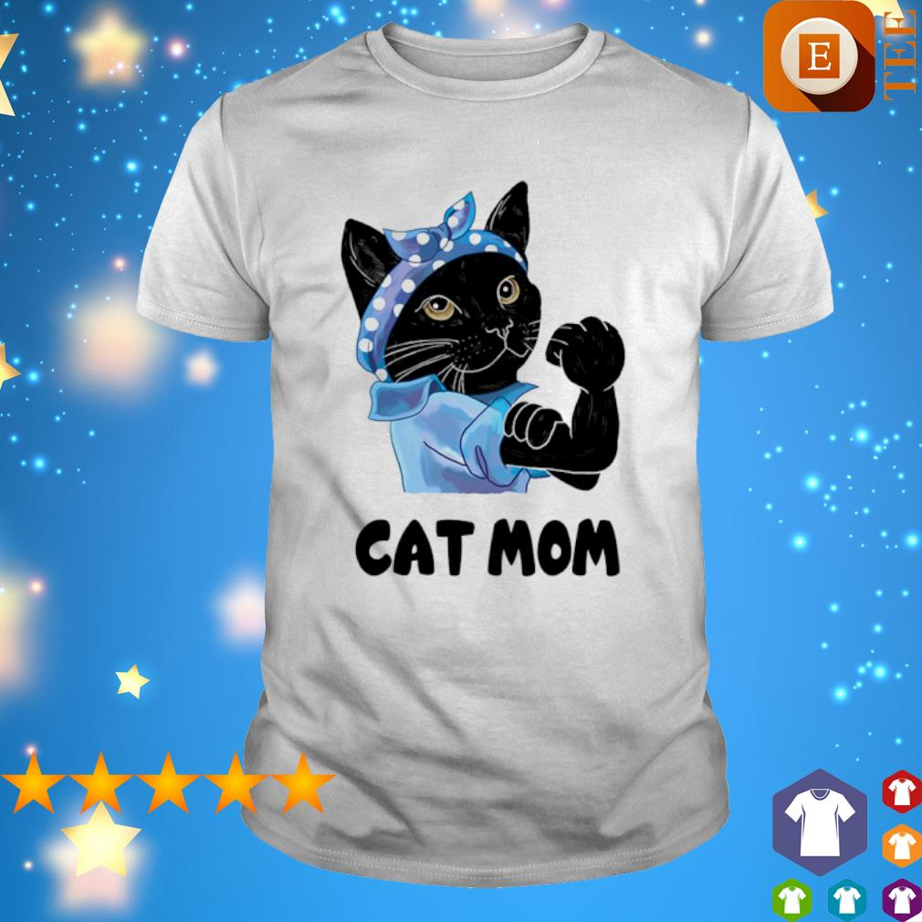Strong Cat black cat mom shirt