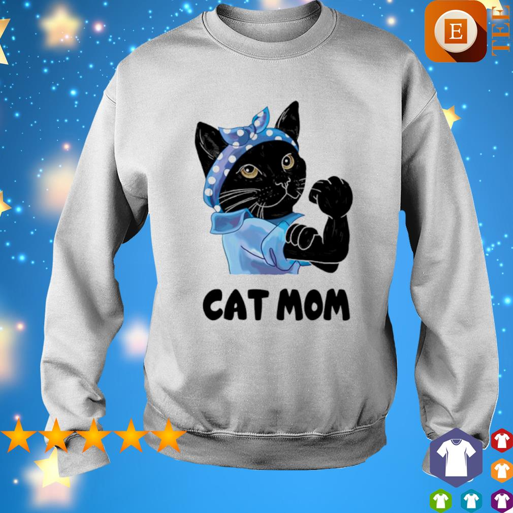 Strong Cat black cat mom s sweater