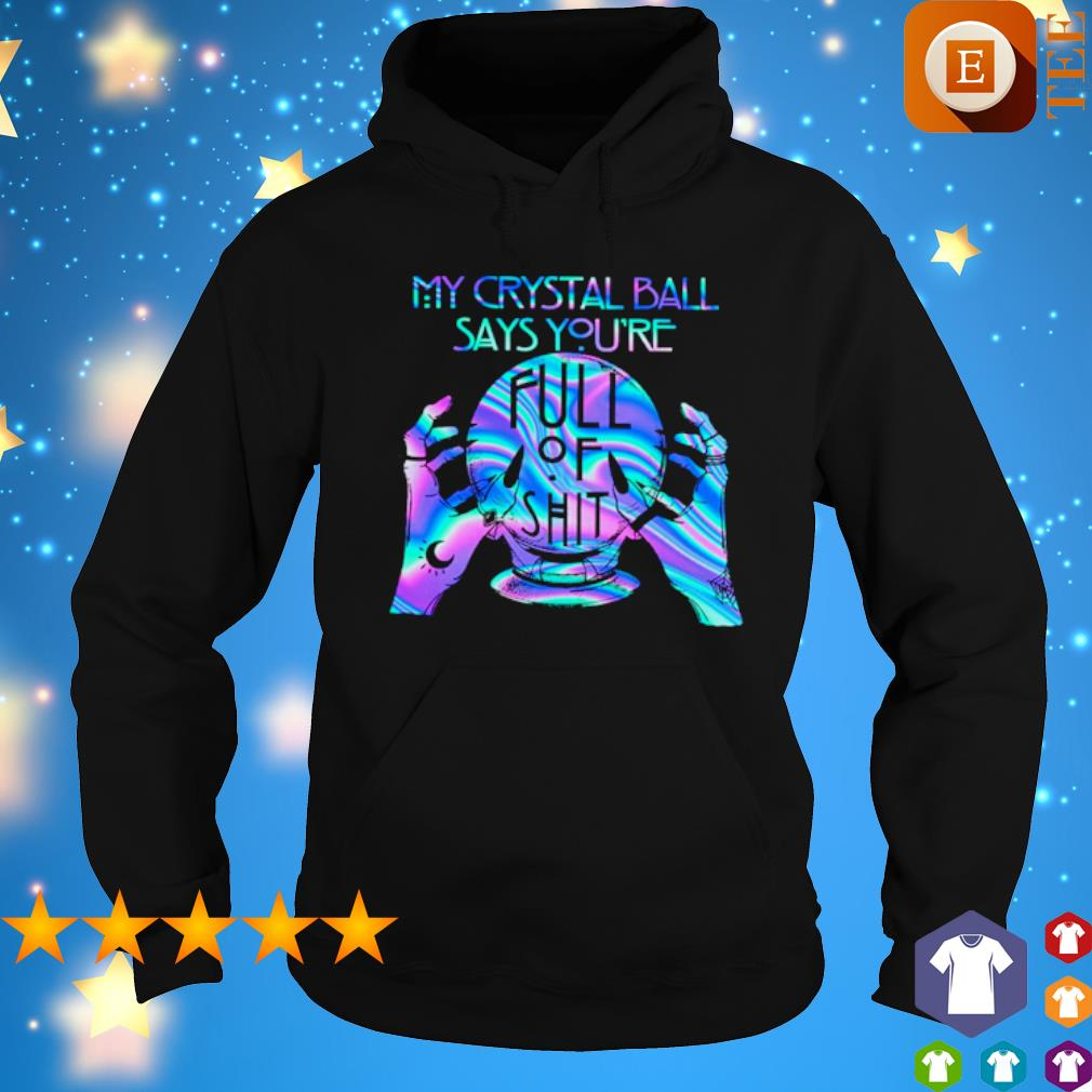 Witch My Crystal Ball Says you're fult of shit s hoodie