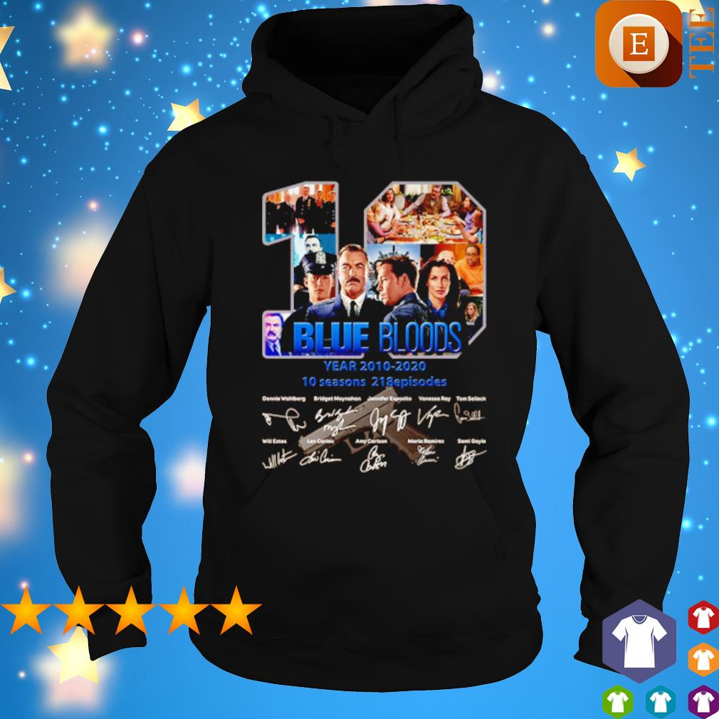 10 years of Blue Bloods 2010 2020 signature s hoodie