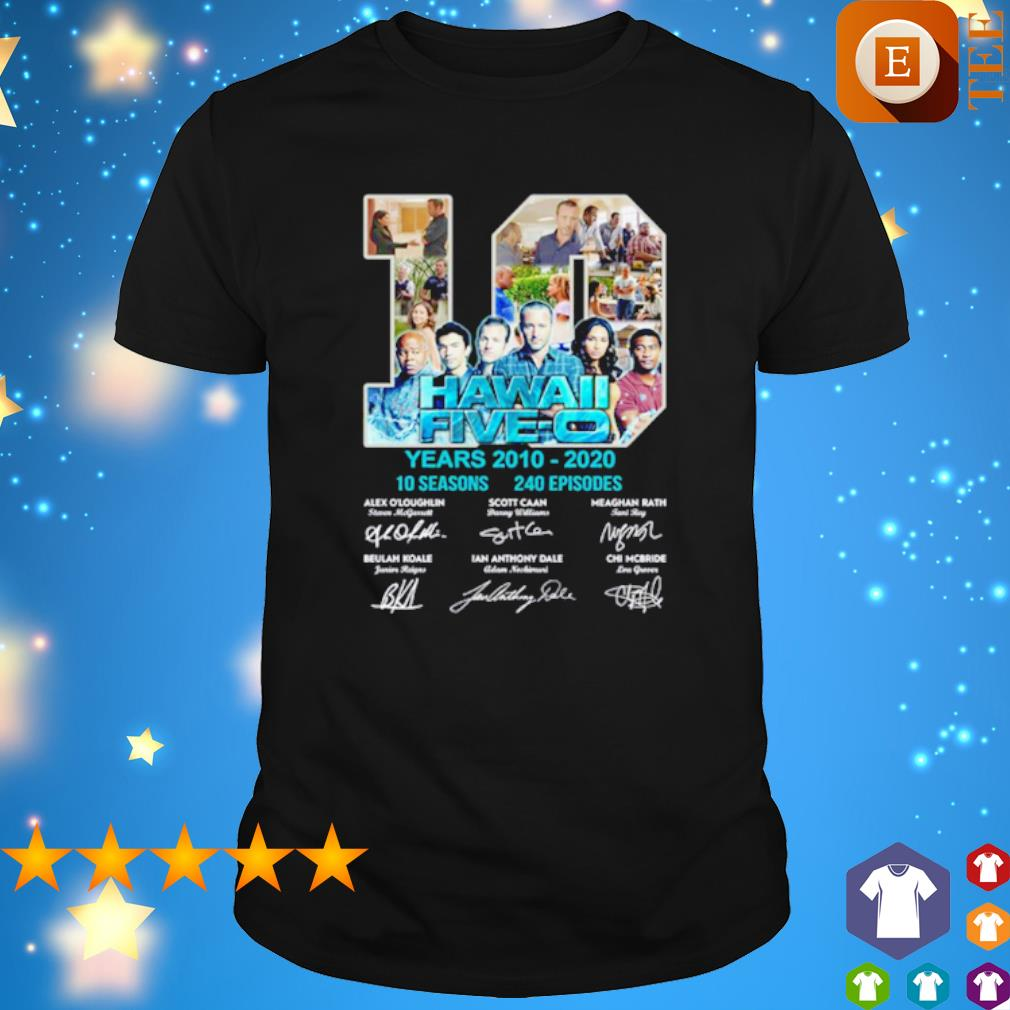10 years of Hawaii Five-O 2010 2020 signature shirt