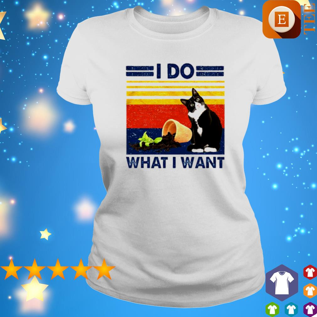 Cat plant I do what I want vintage s ladies tee
