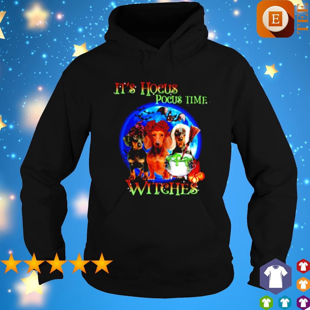 Dachshund it's Hocus Pocus time witches s hoodie