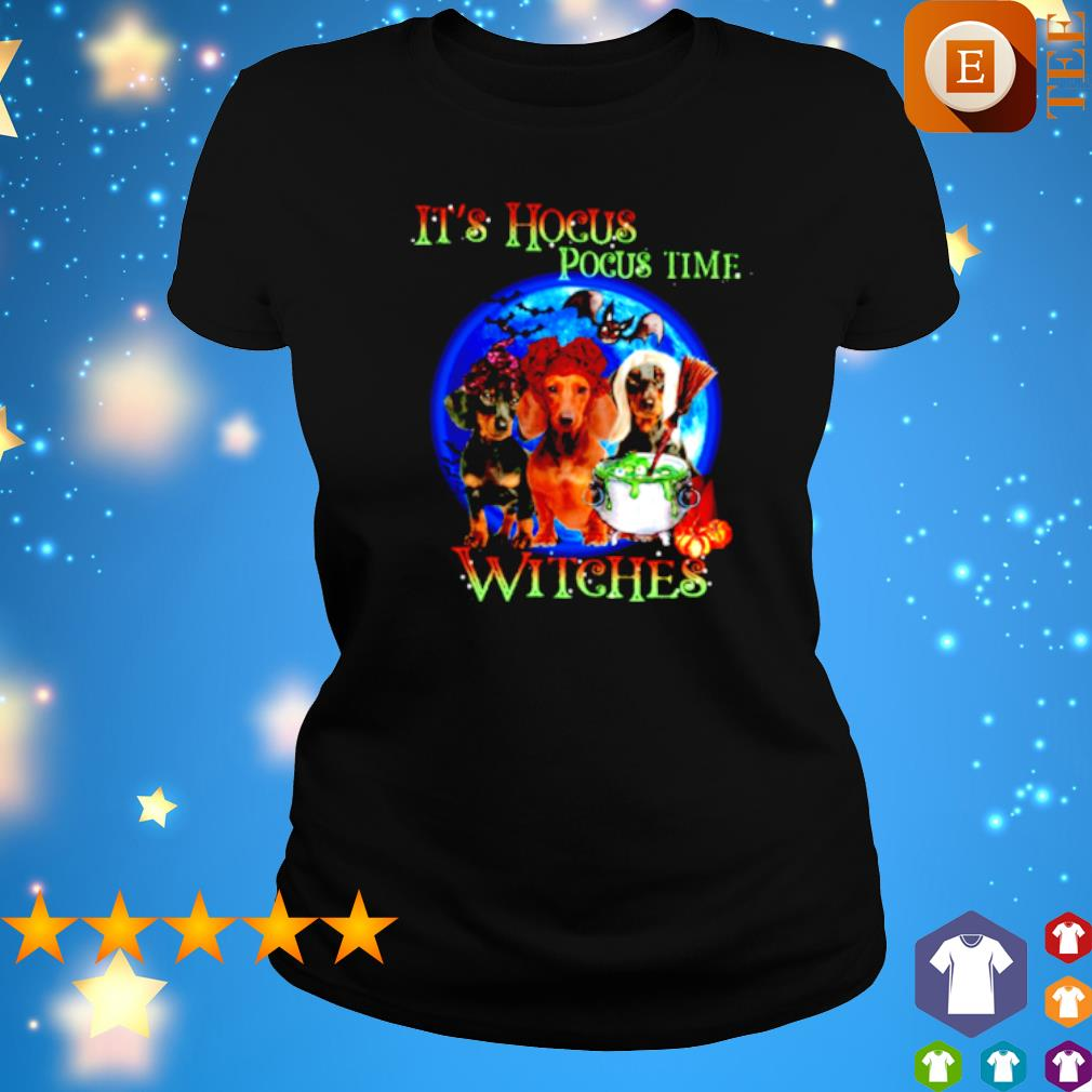 Dachshund it's Hocus Pocus time witches s ladies tee
