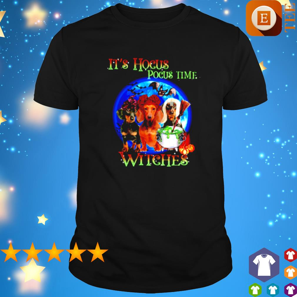Dachshund it's Hocus Pocus time witches shirt