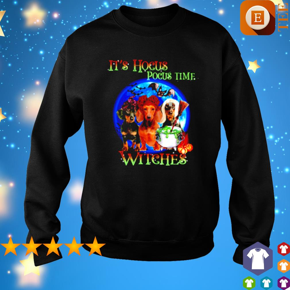 Dachshund it's Hocus Pocus time witches s sweater