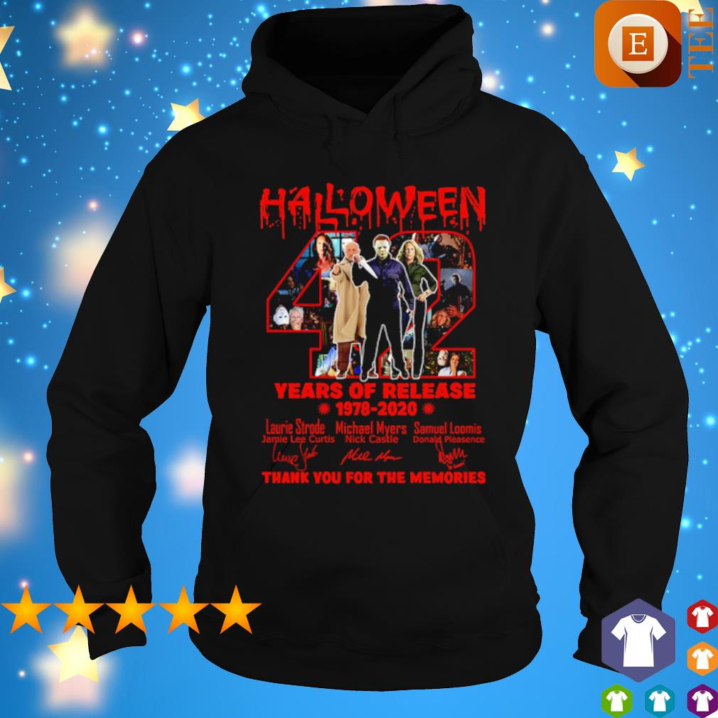 Halloween 42 years of Release 1978 2020 thank you for the memories s hoodie