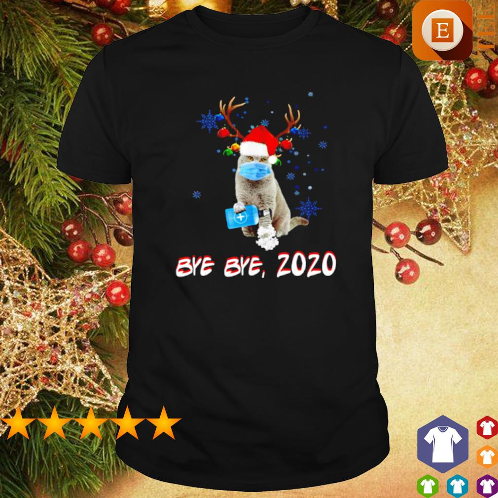 Very Short Hair For Christmas 2020 British Shorthair Reindeer bye bye 2020 Christmas and New Year