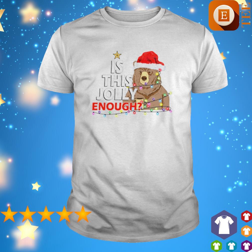 Santa bear is this jolly enough shirt