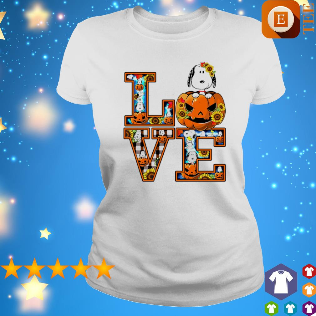 Snoopy pumpkin love Halloween s ladies tee