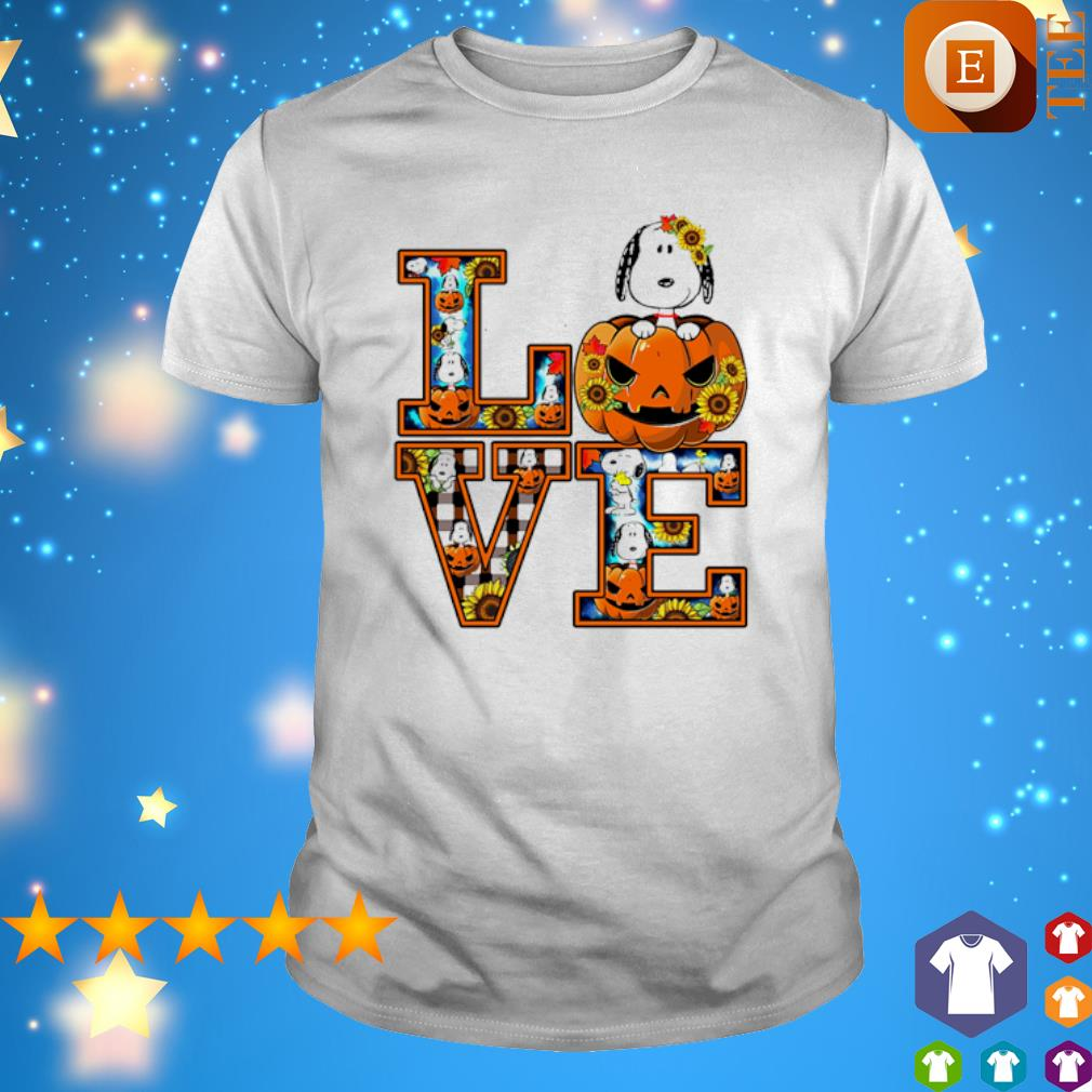 Snoopy pumpkin love Halloween shirt