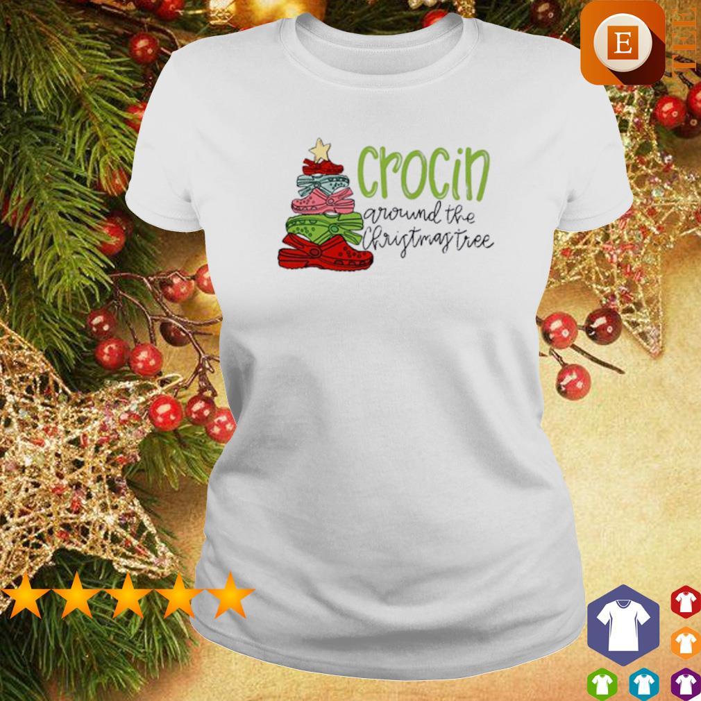 Crocin around the Christmas tree s ladies tee