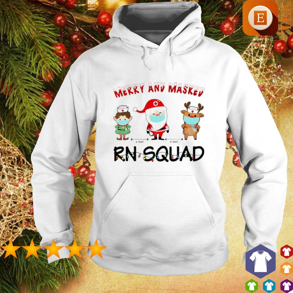 Merry and masked Nurse RN squad Christmas s hoodie