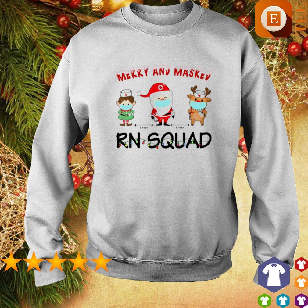 Merry and masked Nurse RN squad Christmas s sweater