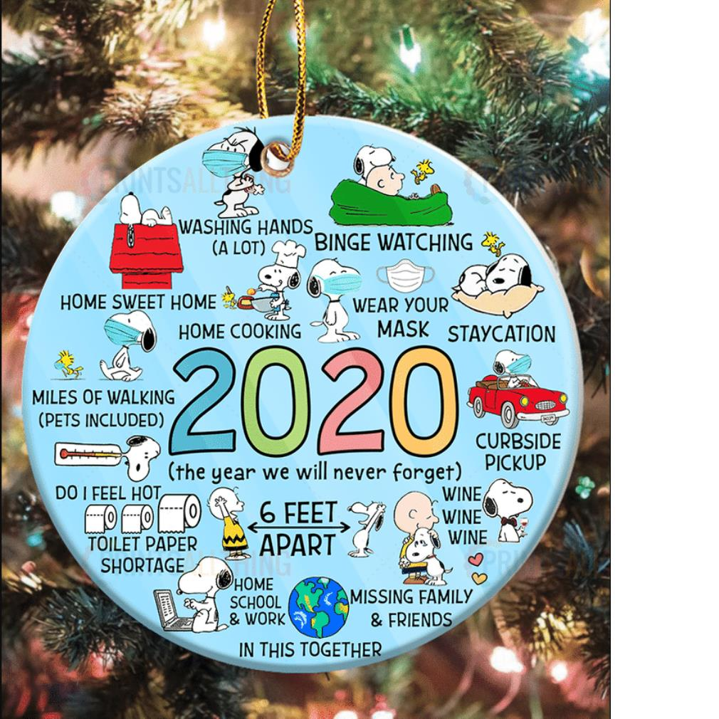 2020 Snoopy Christmas quarantine ornament