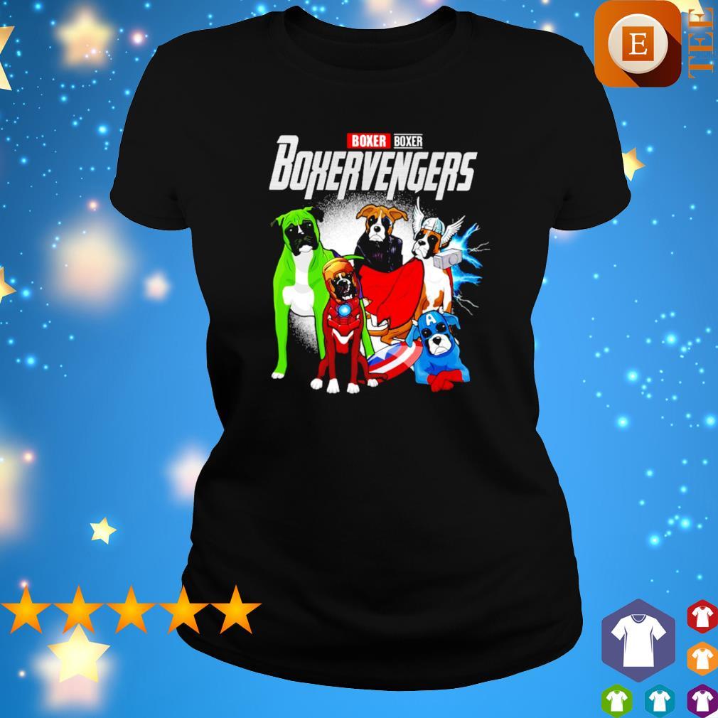 Boxer Boxervengers Avengers s ladies tee