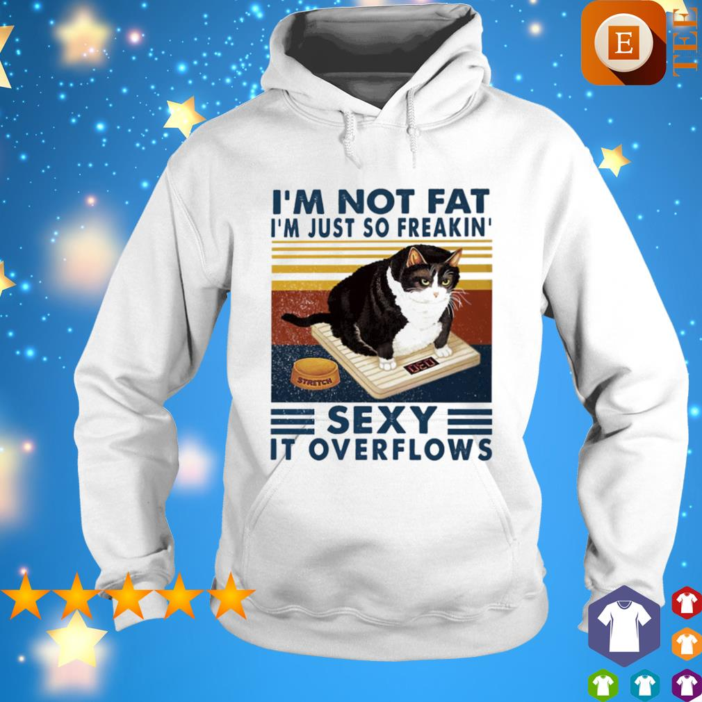 I'm not fat I'm just so freaking sexy it overflows vintage s hoodie