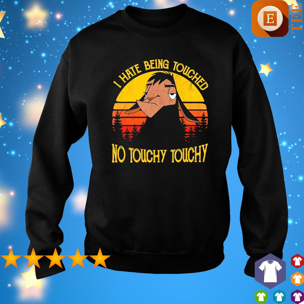 Kuzco Llama I hate being touched no touchy touchy vintage s sweater